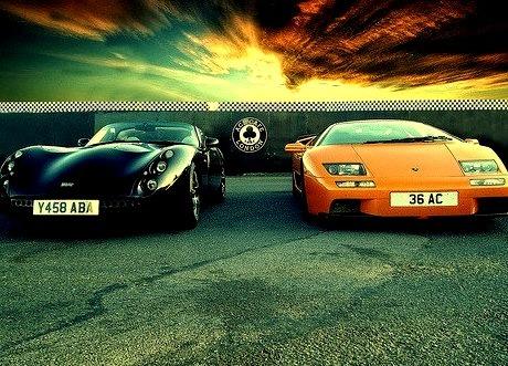 Lamborghini Diablo and TVR Tuscan