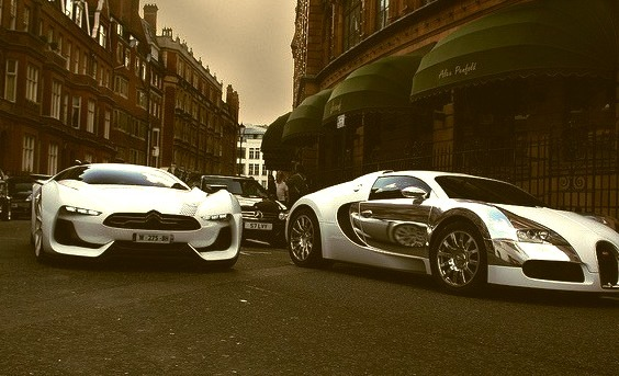 Citroen GT and Bugatti Veyron