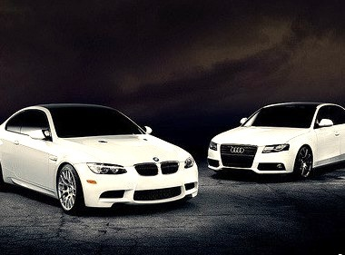 Audi A4 and BMW M3